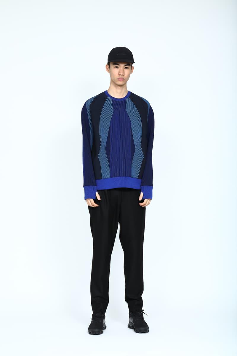 Minotaur Fall Winter 2019 collection Lookbook release Jackets Hats Pants Sweaters Tees Turtlenecks Bags Black Silver Blue Gray Denim Purple Green