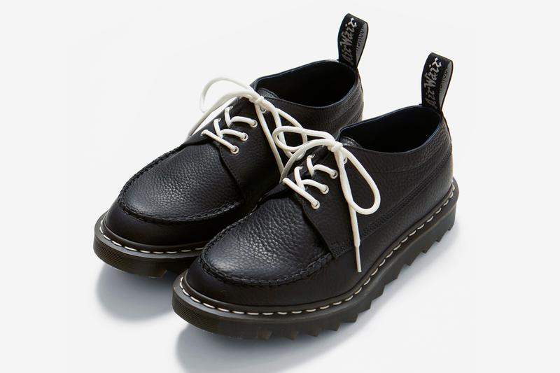 nanamica Dr Martens Camberwell MIE Black Brown nautical marine Japanese tokyo shoes footwear piece fine grain leather air cushioning ziggy sole grip traction tread stitching timeless classic vamp quarter