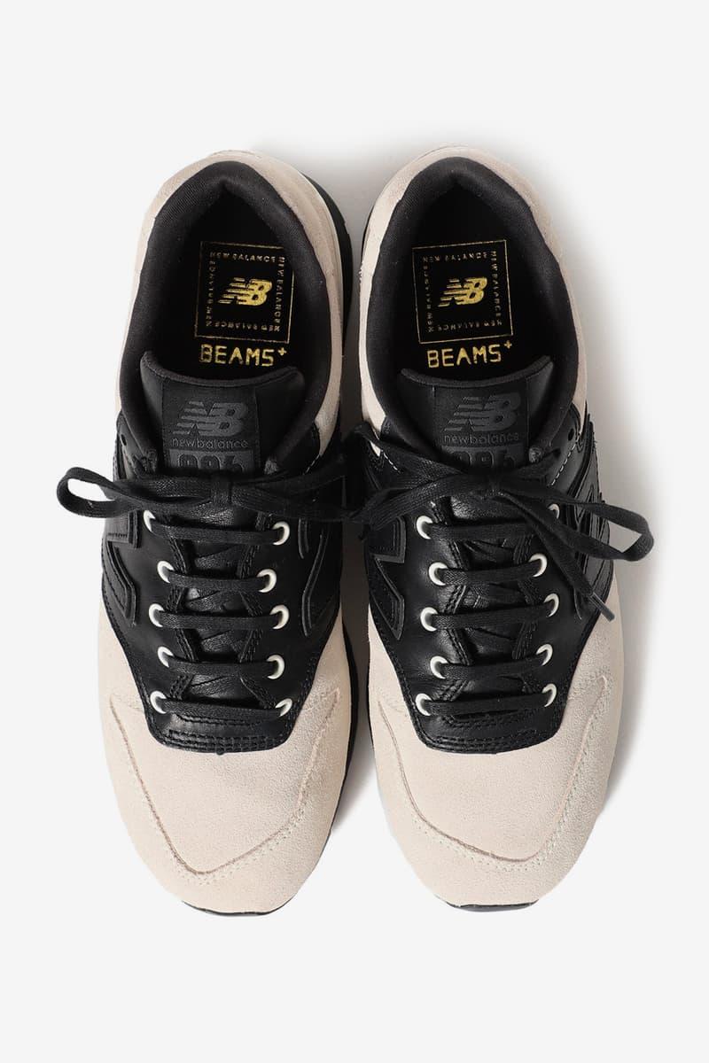BEAMS PLUS New Balance CM996 Bespoke Capsule apparel corduroy saddle shoes black neutral white beige eyelets leather suede nubuck tonal stitching eyelets single vent 3 pockets