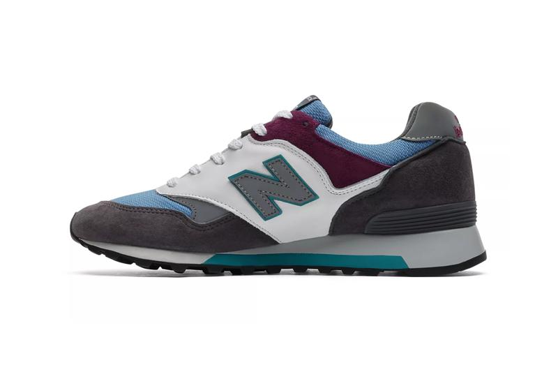 new balance made in uk 577 mountain wild sneaker release dark grey blue white colorway summer 2019 pigskin suede leather rubber