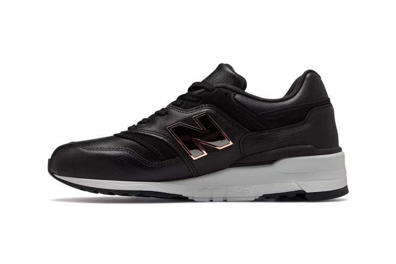 new balance made in us 997 leather black grey colorway metal n logo release