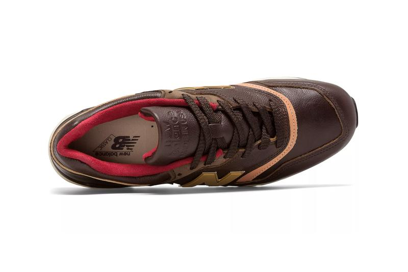 new balance made in us use 997 sneakers brown with tan leather metal colorway release