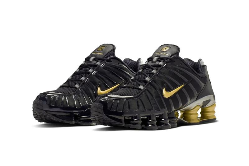 Neymar x Nike Shox TL Black Gold Release Info paris saint germain football soccer sneakers shoes 2000 throwback