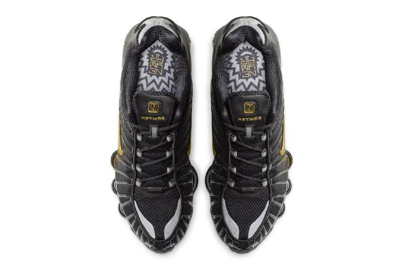 Neymar x Nike Shox TL Black Gold Release Info paris saint germain football soccer sneakers shoes 2000 throwback