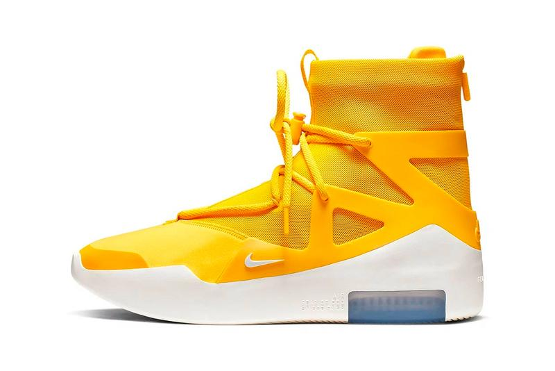 Nike Air Fear of God 1 Yellow Release Info AR4237-700 jerry lorenzo amarillo
