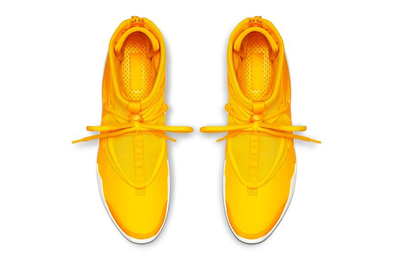 """Nike Air Fear of God 1 """"Yellow"""" sneaker where to buy price release 2019 Jerry Lorenzo"""