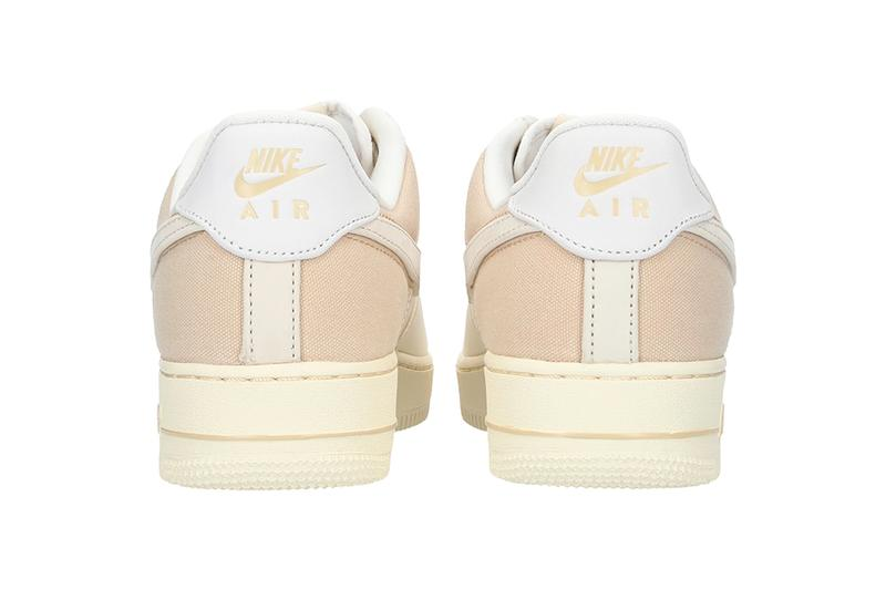 Nike Air Force 1 07 PRM 3 PALE IVORY LIGHT CREAM Release drop date info price CI1116-100 sportswear footwear shoes sneakers canvas