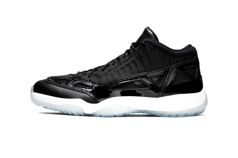 "Nike Air Jordan 11 XI Low I.E. ""Black/Dark Concord"" Sneaker Release Information Cop Online Drop Date How To Buy Patent Icy Outsole ""Space Jam"""