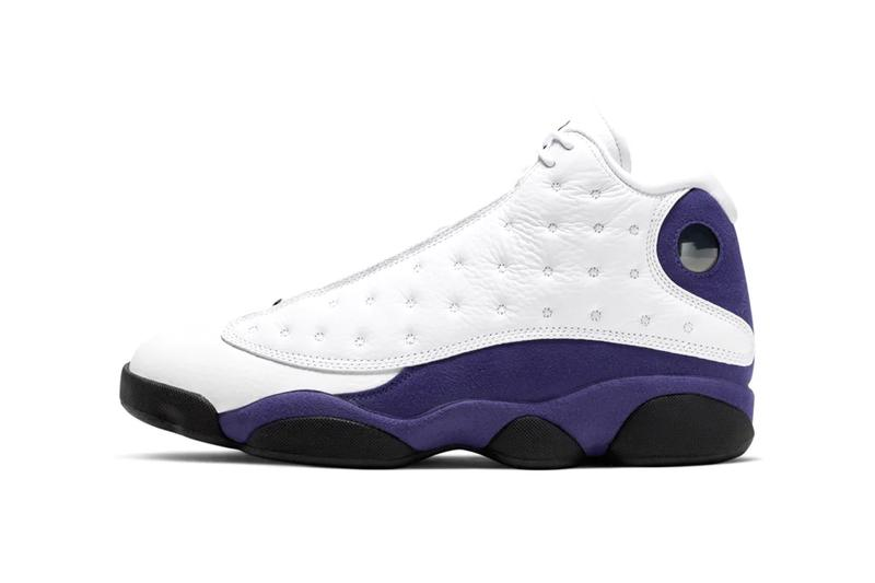 "Air Jordan 13 ""White/Court Purple"" Release Info drop date snkrs app nike jordan brand mj michael lakers colors Air Jordan XIII"