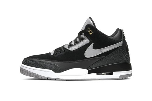 """The 3M-Equipped Air Jordan 3 Tinker """"Black/Cement Grey"""" Gets Official Release Date"""