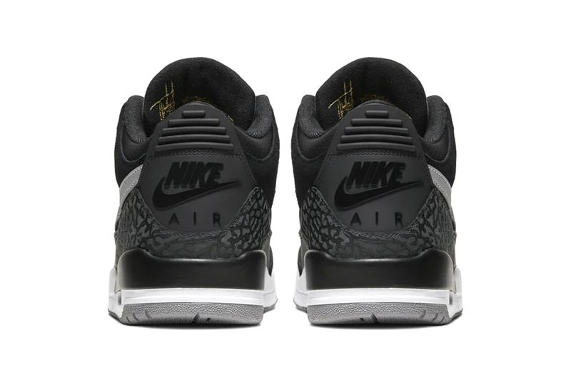 "Nike Air Jordan 3 Retro Tinker Hatfield ""Black/Cement Grey"" Release Information Suede Leather 3M For Sale Swoosh Michael Jordan"