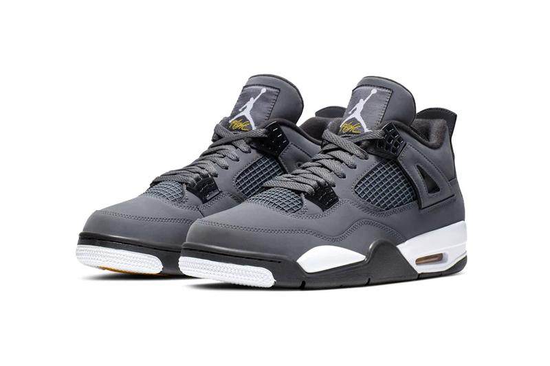 Air Jordan 4 Cool Grey Release date 30th anniversary basketball jordan brand michael jordan 2004 release suede tonal black and white midsole air unit bubbles sneakers aj4