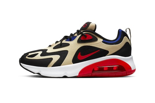 """Nike Drops Its Latest Air Max 200 Clad in """"Team Gold/University Red"""""""