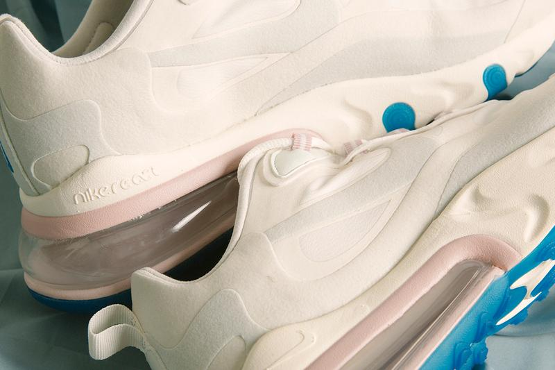 nike air max 270 react summit white ghost aqua blue pastel pink release information details livestock deadstock buy cop purchase summer sneakers