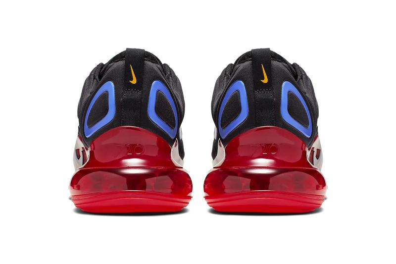 Nike Air Max 720 Primary Colors Release Info black hyper royal challenge red university gold sneakers shoes