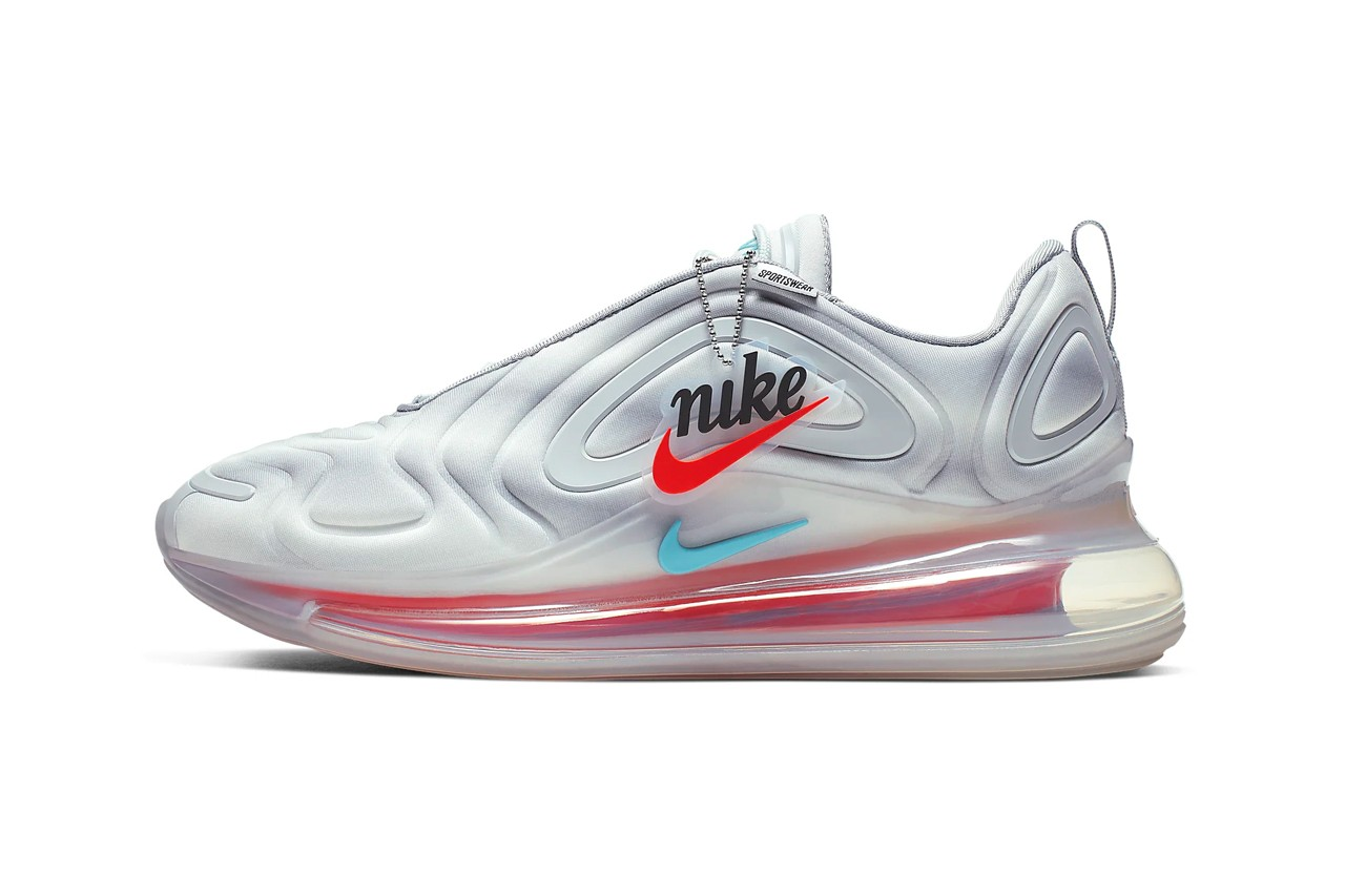 Nike Air Max 720 Grey, Red, Teal