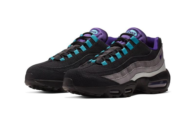 Nike Air Max 95 LV8 Grape Reverse White Court Purple Japan Release snakeskin mesh leather overlays air unit bubble sole retro swoosh layers