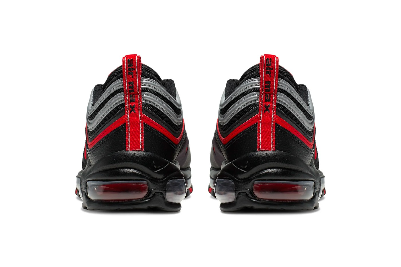 air max 97 black with red tick