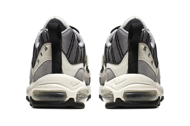 "Nike Air Max 98 SE ""Wolf Grey/Gunsmoke/Black/Phantom"" Sneaker Release Information Closer Look Official Drop Date Inside Out Inverted Pack Swoosh"