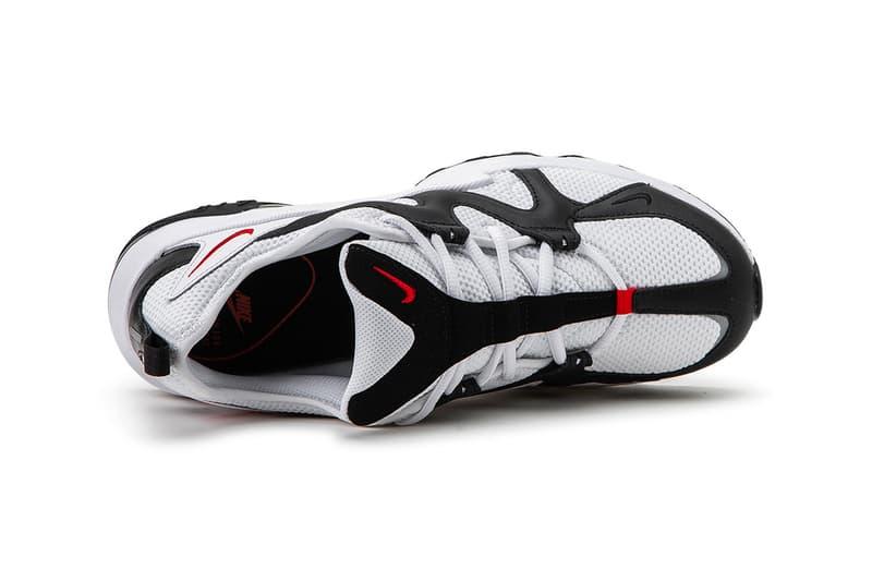 Nike Air Max Graviton White Black Chunky 90s 2013 retro mesh 3M detail leather suede Swoosh footwear sneaker red