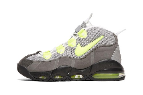 "Nike's Air Max Uptempo 95 Receives Glowing ""Volt"" Green Accents"