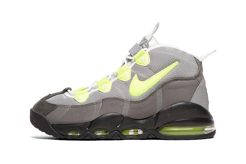 nike air max uptempo 95 qs trainer sneakers black volt dust dark pewter colorway release