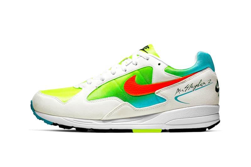 Nike Air Skylon II White TTLCMS 80s classic footwear retro vintage piece sneakers script suede volt blue gradients mesh premium