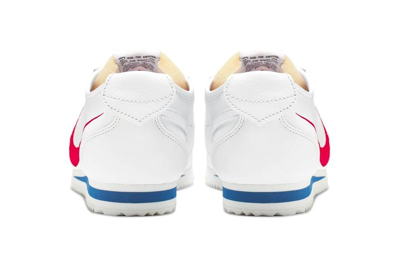 Nike Classic Cortez Shoe Dog Pack Falcon Dimension Six Phil Knight memoir Carolyn Davidson Swoosh logo flipped heel tab exposed tongue foam red embroidery motion speed runner retro vintage