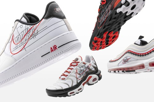 "Nike Drops Revisionist ""Script Swoosh,"" ""Sunburst"" and ""Swoosh Chain"" Packs"