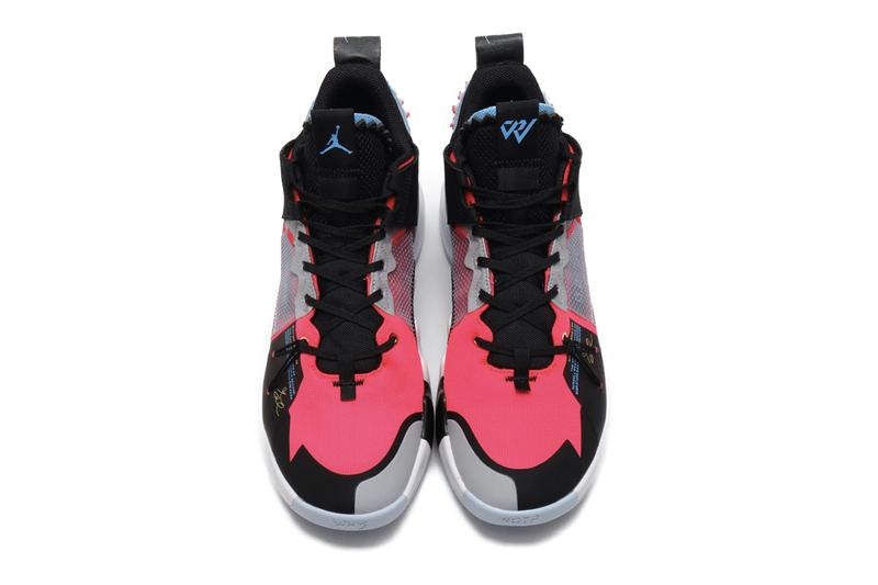 Nike Jordan Why Not Zer 02 SE Red Orbit Black translucent panel ghosting grid russell westbrook basketball shoe nba midsole chunky highlights fluorescent