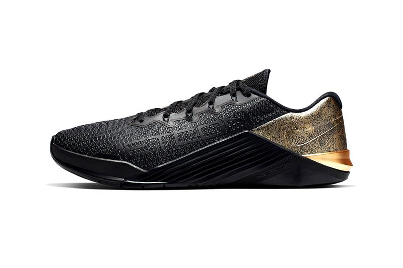 66d6a514b47de2 Nike Cross Train Metcon 5 Medal Strong Release gold rose sneaker training  weights lifting crossfit athleticism