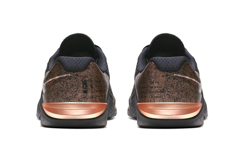 Nike Cross Train Metcon 5 Medal Strong Release gold rose sneaker training weights lifting crossfit athleticism athletes competition victory