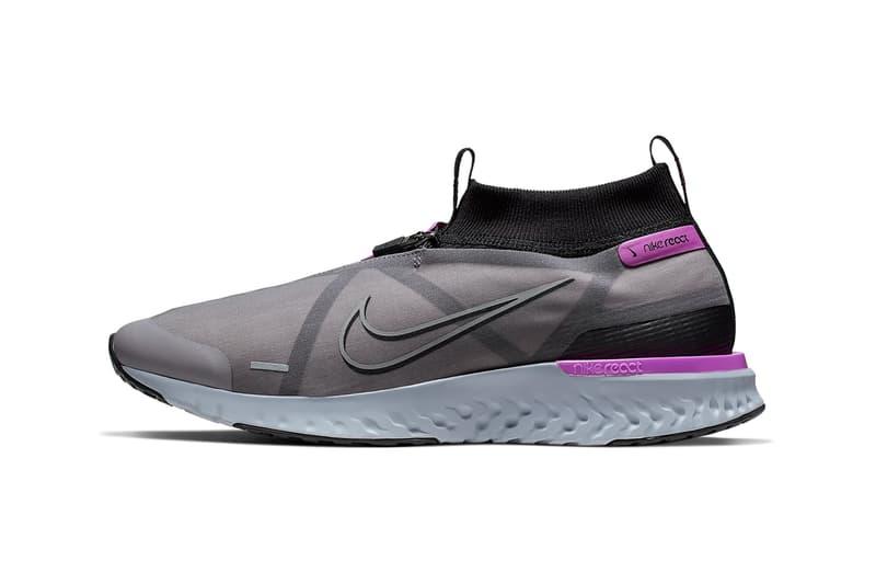 nike react city release black hyper violet purple gunsmoke grey colorway drop info