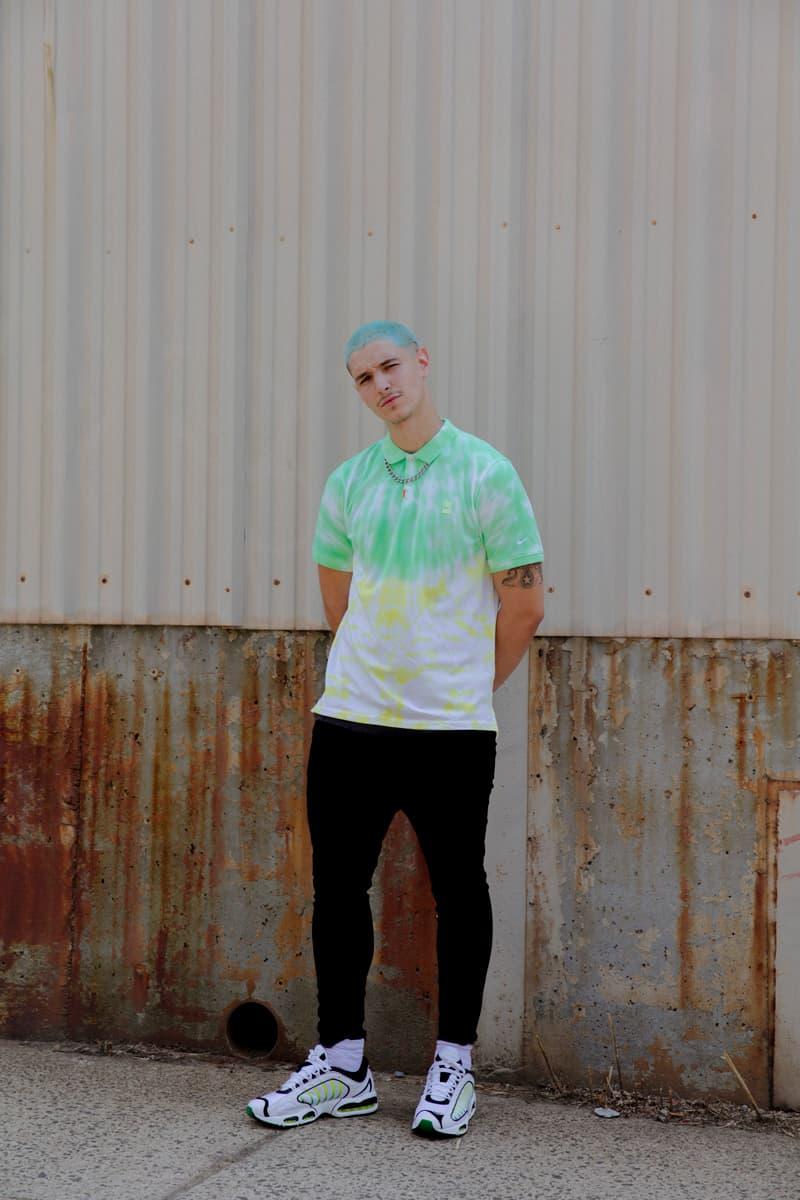 Nike Skateboarding sb Golf Drop Tie Dye Polos polo shirt Steve Prefontaine dip hand rainbow lookbook