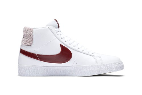Nike SB's Zoom Blazer Mid Pack Sports Terry Cloth-Detailed Heel