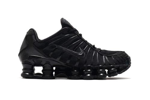 "Nike Serves up a Sleek ""Triple Black"" Rendition of Its Shox TL Silhouette"