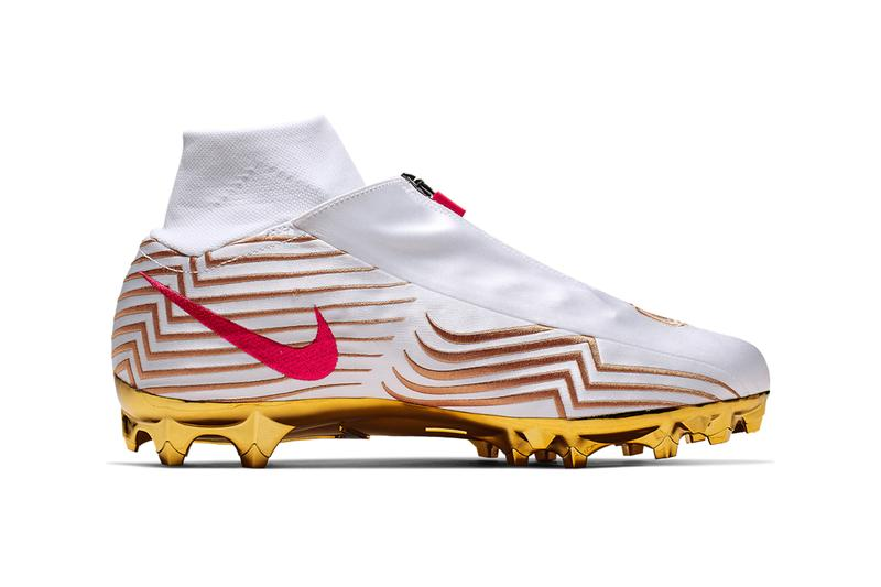Nike Vapor Untouchable Pro 3 Odell Beckham Jr. Cleats Red White Gold Scorpio Scorpions CJ6695-100