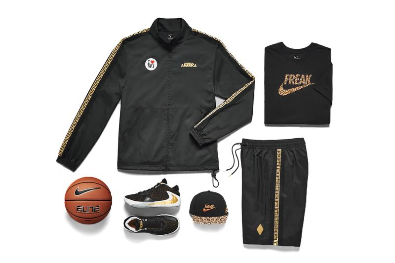 Nike Zoom Freak 1 Coming to America Release Info GIANNIS ANTETOKOUNMPO Track suit pants jacket hat t shirt ball