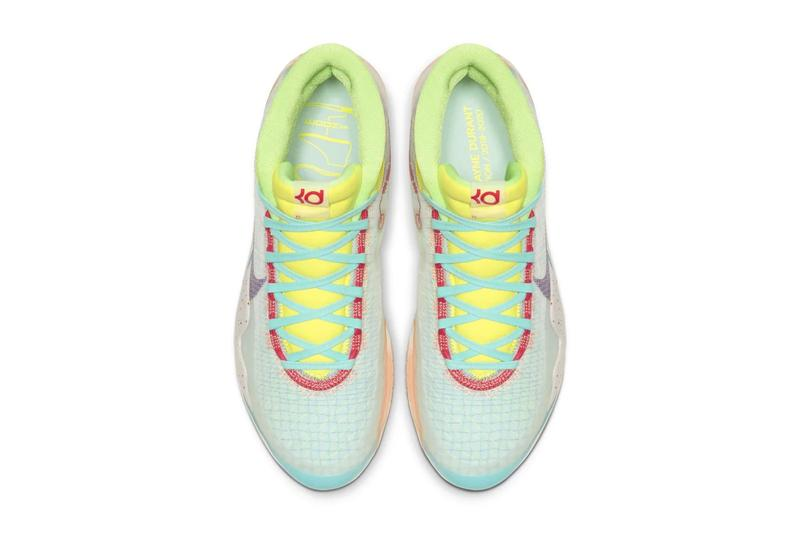 "Nike Zoom KD12 NRG EP ""Peach Jam"" Release Drop date price teal peach colorway snkrs app kevin durant"