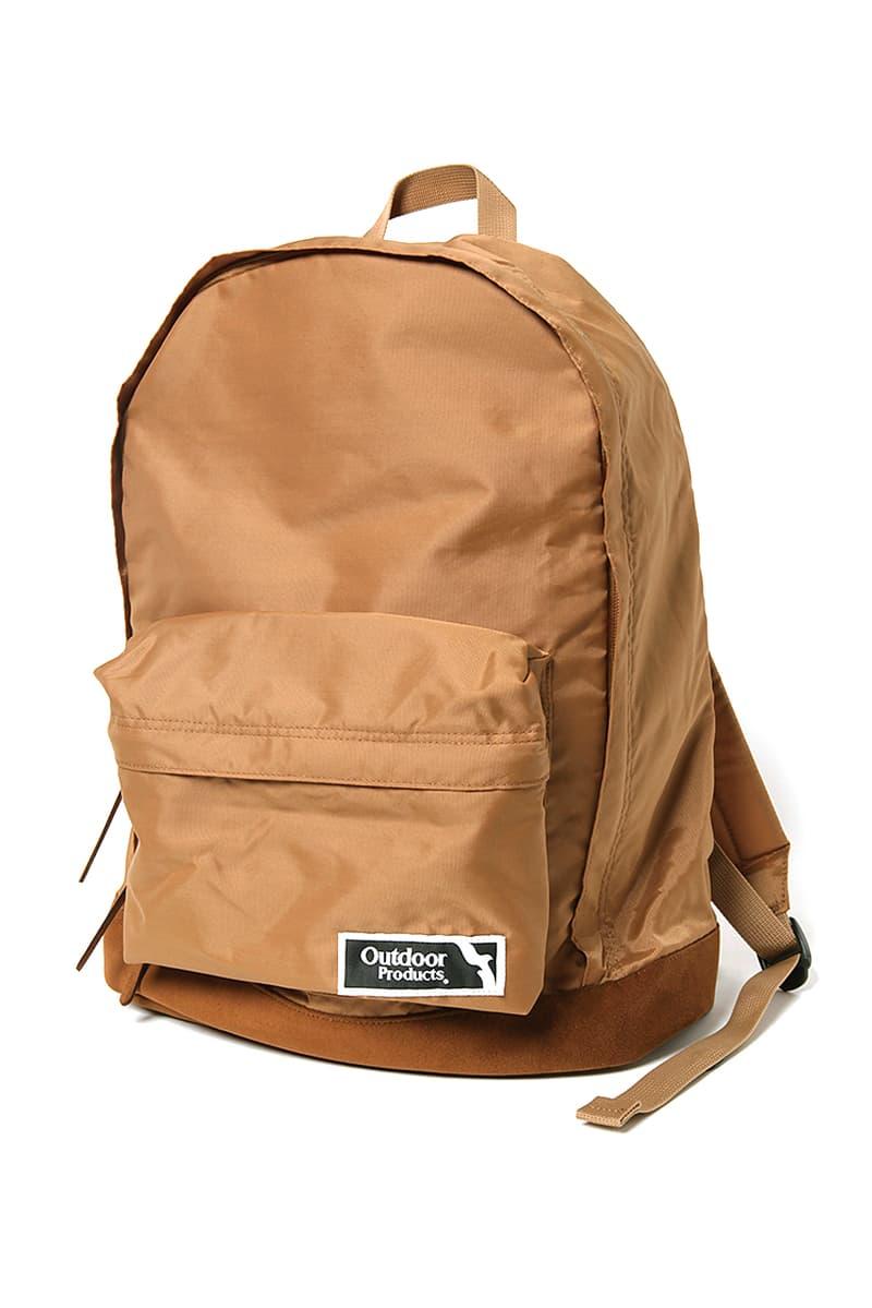 "nonnative Outdoor Products Backpacks Waistbag Black Beige Tan Takayuki Fujii Nylon Oxford Fabrics Washable ultrasuede Base Tonal ""452U"" daypack ""HIP BAG 185"""
