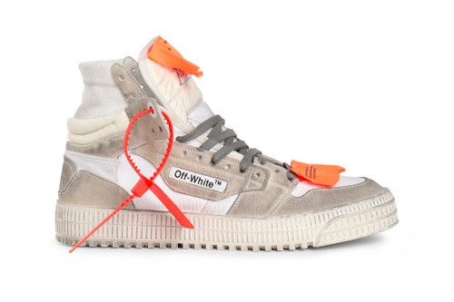 Off-White™ Drops Distressed Suede Off-Court 3.0 Sneakers in White