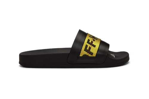 Off-White™ Drops Sleek Black Slides Topped With Industrial Belt Straps