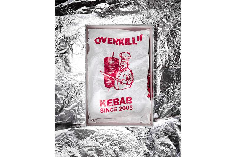 """Overkill x Reebok CL Leather """"Döner"""" Release Information Collaboration Pack Drop Online Instore Kebab Inspired T-Shirt Tote Bag Cap Socks"""