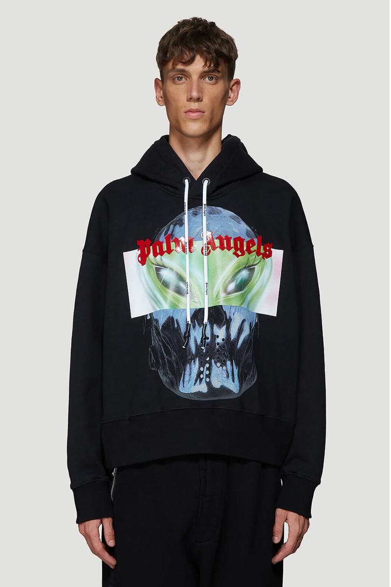 Palm Angels Sweatshirt Bowling Shirt Aliens White Black Green Red graphic fall winter 2019 fw19 release date info buy