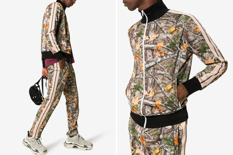 Palm Angels Woodland Camouflage Track Suit Release camo sports clothing pants sweatpants track suits
