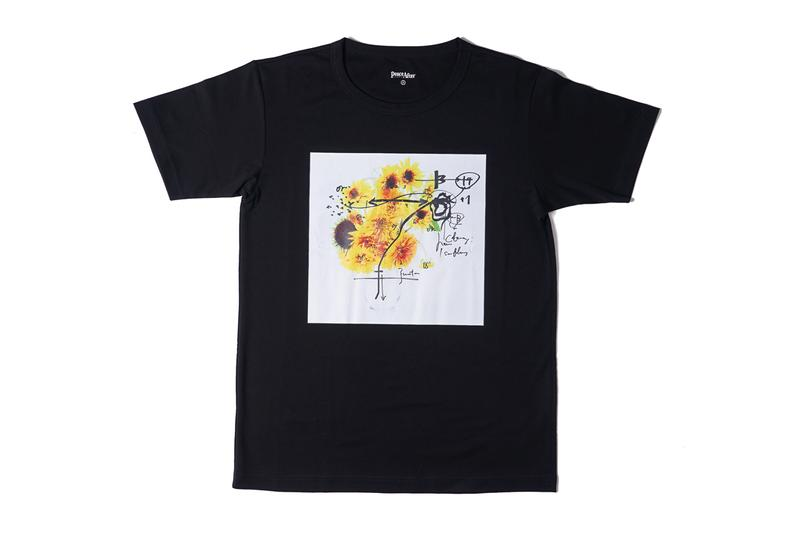 PEACE AND AFTER Azuma Makoto T shirt black instructions flower artwork photo arrangement composition 1 to 12 sunflower Japanese Release info date