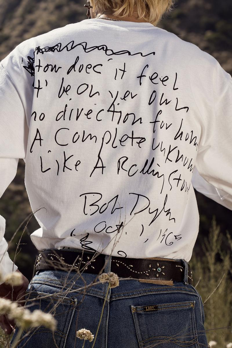 Bob Dylan x Pleasures Capsule Collection Lookbook graphic t-shirts hats hoodie sweatshirts shirts release info price drop date sony music
