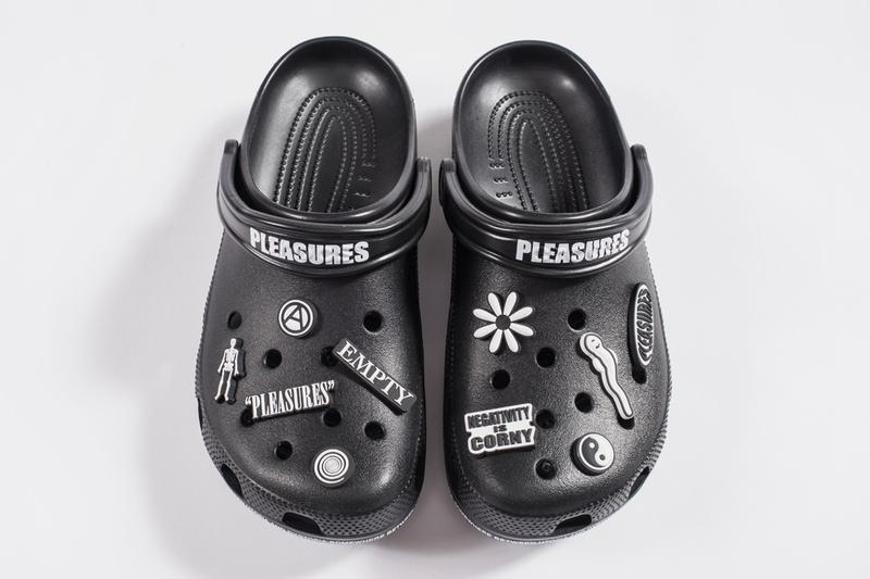 PLEASURES Crocs Part 2 First Look Black Jibbitz