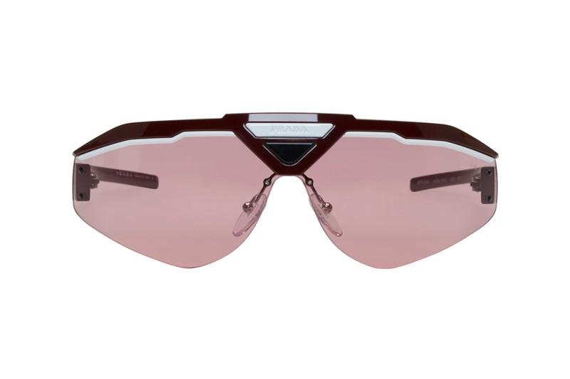 Prada FW19 Sunglasses Release Info italy black rubberized 192962M134514 drop date Green Mirrored Lens 192962M134516 Pink and Red Runway 192962M134519