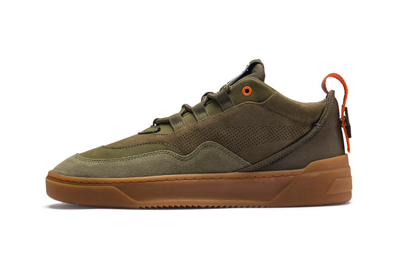 puma cali zero demi midtop sneakers release triple black army green satellite silver grey colorway information spring summer 2019
